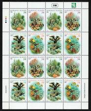 MARSHALL ISLANDS, SCOTT # 797, FULL SHEET OF 16 CORAL REEFS, MARINE LIFE, 2002