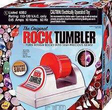 Rock Polisher Machine Tumbler Kit Smooth Stone Maker Gems Collector Kids Science