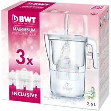 BWT 2.6 L Vida Water Filter Starter Brocca con 3 x lunga Mg2+ 120 L CARTUCCE
