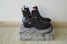 NIB Jeffrey Campbell Muskrat Black Leather Harness Ankle Boot Size US 8