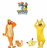 Pokemon Pyjamas Pikachu Charmander Adult Unisex Animal Cosplay Costume Sleepwear