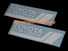 "2x 12"" 30.5cm TTE Team Europe decal sticker Tacoma Camry Corolla is350 is250 frs"