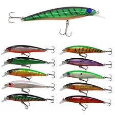 10pcs Minnow Fish Lure 11.5cm 13g Sharp Treble  Hook 6# Bass Bait Crankbaits