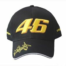 Black Motogp Racing Valentino Rossi Embroidery 46 Baseball Hat Peaked Cap VR46