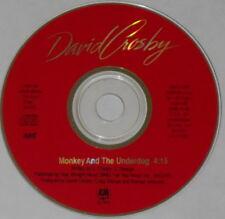 David Crosby  Monkey and the Underdog  1989 U.S. promo cd
