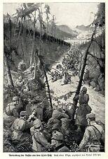 Vertreibung d. Russen a.d.Uzsok-Pass  K.Ostritza Kriegsmaler * War Artist * 1.WK