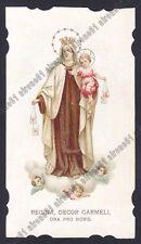SANTINO 205 MADONNA DEL CARMELO - IMMAGINETTA RELIGIOSA HOLY CARD IMAGE PIEUSE