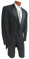 Boys 3 Black Western Tuxedo Tailcoat Full Dress Long Tails Wedding Ringbearer