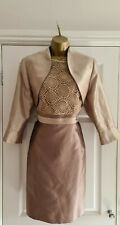 Ladies Gold Dress & Jacket Size 20 By Vava Exclusives London