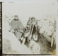 Guerre 14-18 Trench Francia Foto Stereo PL46Th3n1 Placca Vintage