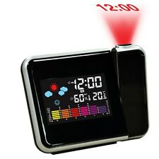 Digital Weather LCD Projection Snooze Alarm Clock with Colorful LED Backlight#N
