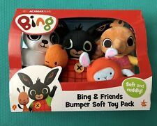 Bing Bunny and Friends - Bumper Soft Toy Pack- Plush Toys -Brand New
