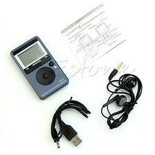 Portable AM/FM 2 Band Digital Tuning FM Radio Stereo Receiver + Earphone DC 5V