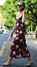 ZARA WOMAN ETHNIC TRIBAL AZTEC NAVAJO PRINTED STRAPPY BLOGGERS MAXI DRESS S 8 10