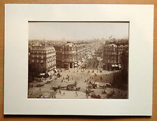 PARIS - Avenue de l'OPÉRA. Photo XIXème. Atelier Jeanne d'Arc 1884. Vintage.