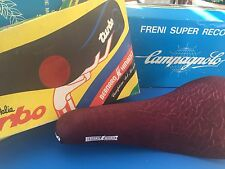 Bernard Hinault Turbo Saddle Seat Sells Italia Dark Red NOS IN BOX NEW OLD STOCK