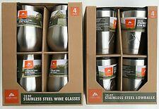 Ozark Trail Stainless Steel 14 oz Wine Glass & 10 oz Tumbler Bundle