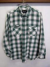 EUC! Topman Casual Work Shirt green plaid long sleeve button front sz XL