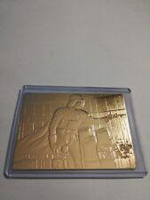 DART VADER star wars 1996 genuine 23kt gold card