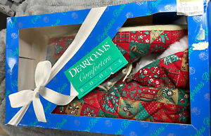 Vintage 1990 Dearfoams Comforters Boots Size Small 5-6 NEW in Original Box
