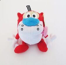 """Stimpy Plush Doll Nickelodeon's 7"""" w/Squeaky Nose & Elastic Tongue Red & White"""
