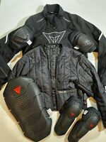Dainese Mens Size 52 Laguna Seca D DRY Motorcycle Racing Jacket In Black