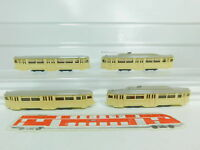 BO760-0,5# 4x Wiking H0/1:87 Straßenbahn: 740 (?) Motorwagen + 741 (?) Anhänger