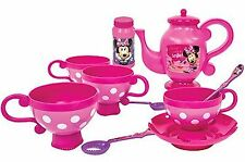 DISNEY MINNIE MOUSE BUBBLE TEA SET GIRLS DINNER PARTY TOY KIDS PLAY GIFT PRESENT