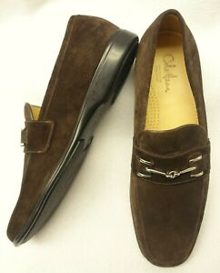 COLE HAAN AIR~NEW!!~ITALY MENS 10.5M BROWN SUEDE HORSEBIT CUSHION OXFORD LOAFERS