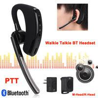 Wireless Bluetooth Walkie Talkie Headset Earpiece Earphone Headphone Ham Radio