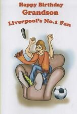 Happy Birthday Grandson Liverpool's No.1 Fan - Birthday Card