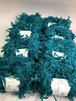 Lot of 8 Skeins Fling Crystal Palace Yarn Dark Jade #3688 Nylon Eyelash 50g 130y