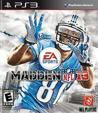 New! Madden NFL 13  (Sony Playstation 3, 2012)  - U.S. Retail Version!