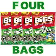 BIGS VLASIC PICKLE FLAVOR SUNFLOWER SEEDS DILL FLAVORED - FOUR 5.35 OZ BAGS