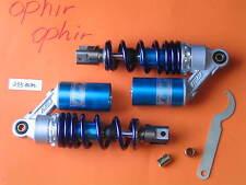 "9.25"" 235mm A Pair Gas Shock Absorbers Honda Yamaha Kawasaki Suzuki Scooter Blue"
