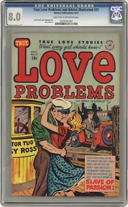 True Love Problems and Advice Illustrated #21 CGC 8.0 1953 0239381004