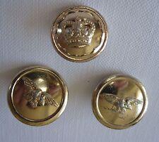 Three Miscellanious Staybright Uniform Buttons RAF & Crown Logo (ref 3498)
