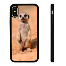 Meerkat Puppy - Silicone Phone Case Skin Cover fits iPhone Se 5 6 7 8 X 11 12