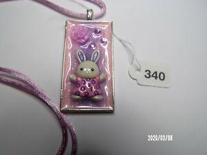 Easter Bunny Necklace Pendant Lavendar #340