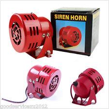 "50s 12 Volt Red 3"" Air Raid Siren Horn Car Off-Road Electric Driven Alarming Kit"