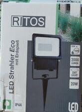2x Ritos Led Strahler Eco mit Erdspieß IP 44 20W