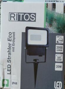 Ritos Led Strahler Eco mit Erdspieß IP 44 20W