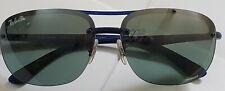 Men's Ray Ban RB4275 Chromance Polarized Sunglasses Blue Frame Mirrored Lens