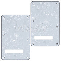 2 Pcs Guitar Tremolo Cover Back Plate White Pearl for Fender Strat replacement