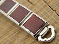 Vintage Unused Gold Filled & Lizard Watch Band Ring End Expansion Bracelet NOS