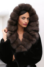 PELZ PELZMANTEL MANTEL NERZ BLACKGLAMA FUR COAT SABLE ZOBEL MINK PELLICCIA норка