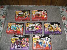 Transformers G1 Generations Deluxe Retro Headmaster Lot of 7 -Waves 1 & 2 MISP