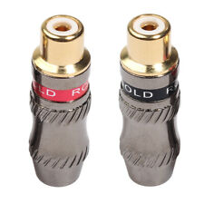 2 Pack RCA Jack Adaptor, Gold Plated Connectors, Female to Female RCA jack