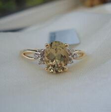 Certified Colour Change Turkish Diaspore & Diamond Gold Ring