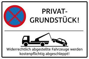 450 x 300mm Parken verboten Schild Parkverbot Hinweisschild Parkverbotsschild